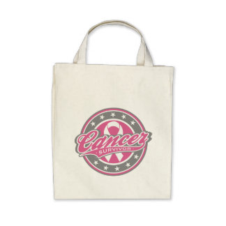 Cancer Survivor - Breast Cancer Tote Bags