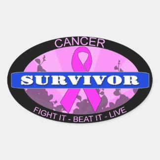 Cancer Survivor Oval Sticker