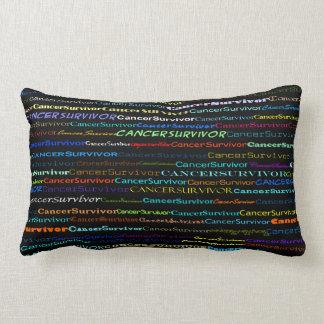 Cancer Survivor Text Design I Lumbar Pillow