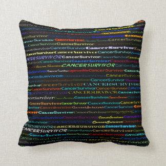 Cancer Survivor Text Design I Throw Pillow