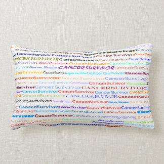 Cancer Survivor Text Design II Lumbar Pillow