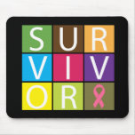 Cancer Survivor Tile Breast Cancer Mousemats