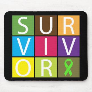 Cancer Survivor Tile Non-Hodgkins Lymphoma Mouse Pad