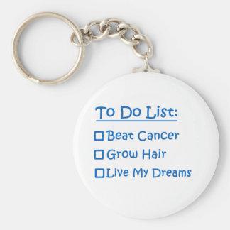 Cancer Survivor To Do List Basic Round Button Key Ring