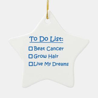 Cancer Survivor To Do List Christmas Ornament