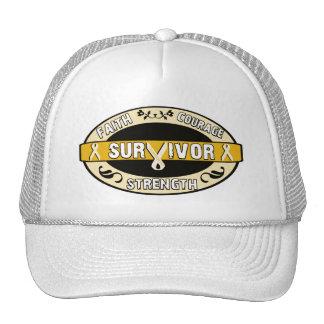 Cancer Survivor Yellow Gold Cap