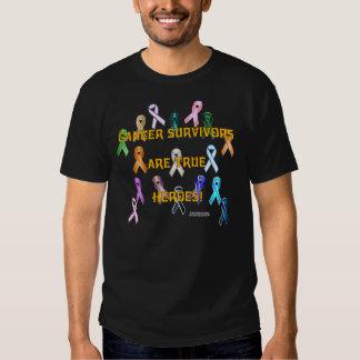 Cancer Survivors Men's Colored T-Shirt