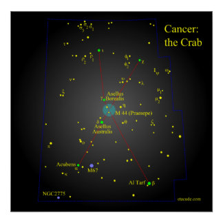 Cancer the Crab Constellation Poster