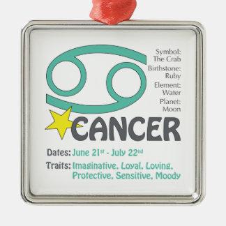 Cancer Traits Square Ornament
