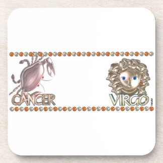 Cancer Virgo astrology friendship Beverage Coaster