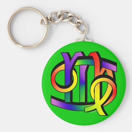 Cancer & Virgo GLBT Basic Round Button Key Ring