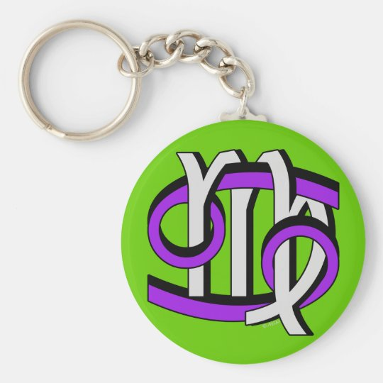 Cancer & Virgo PGy Basic Round Button Key Ring