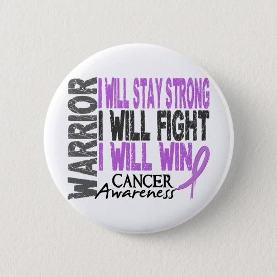 Cancer Warrior 6 Cm Round Badge