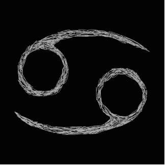 Cancer. Zodiac Astrology Sign. Black. Photo Sculpture Magnet