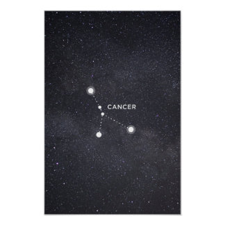 Cancer Zodiac Constellation Poster