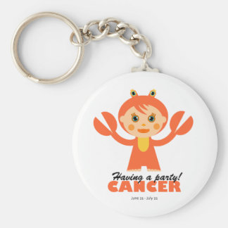 Cancer Zodiac for kids Basic Round Button Key Ring
