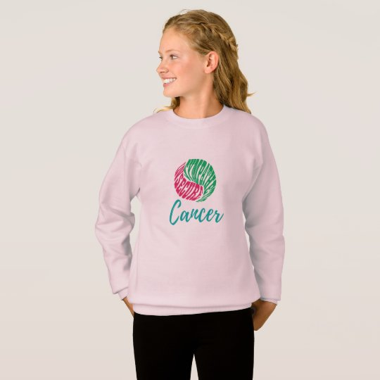 Cancer Zodiac Personality Traits Girl's Sweatshirt