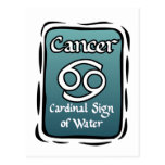 Cancer zodiac sign post cards