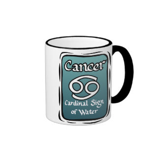 Cancer zodiac sign ringer mug