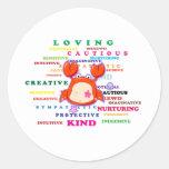 Cancer Zodiac Sign Traits Classic Round Sticker