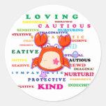 Cancer Zodiac Sign Traits Round Sticker