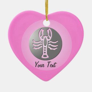 Cancer Zodiac Star Sign Premium Silver Christmas Ornament