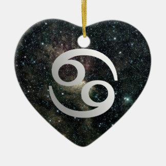 Cancer Zodiac Star Sign Universe Heart Birthday Christmas Ornament