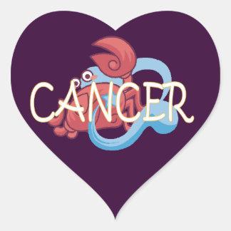 Cancer zodiac heart sticker