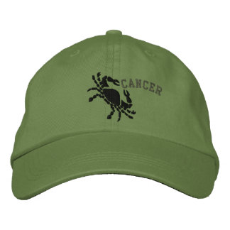 Cancer Zodiac Symbol Embroidery June 21 - July 22 Embroidered Baseball Caps