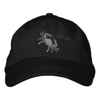 Cancer Zodiac Symbol Embroidery June 21 - July 22 Embroidered Hats