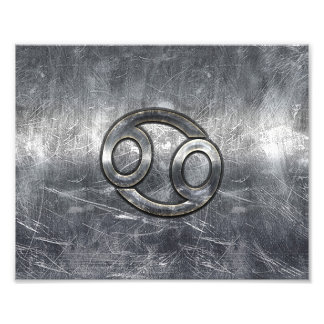 Cancer Zodiac Symbol in Industrial Style Photo