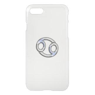 Cancer Zodiac Symbol Navy Blue Carbon Fiber iPhone 7 Case