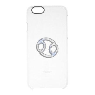 Cancer Zodiac Symbol Navy Blue Carbon Fiber Print iPhone 6 Plus Case