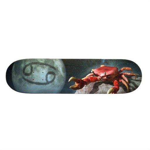 Cancer Zodiac Symbol Custom Skateboard