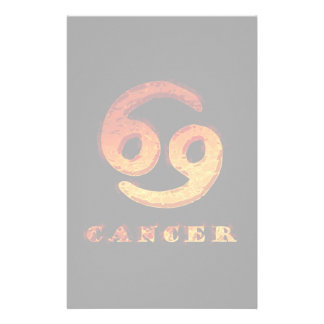 Cancer Zodiac Symbol Stationery Design