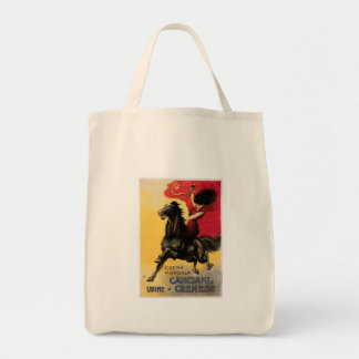 Canciani & Cremese Vintage Wine Ad Art Grocery Tote Bag