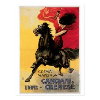 Canciani & Cremese Vintage Wine Ad Art Postcard