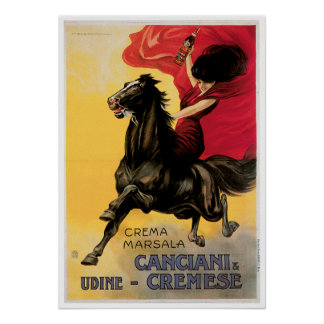 Canciani Cremese Vintage Wine Ad Art Posters