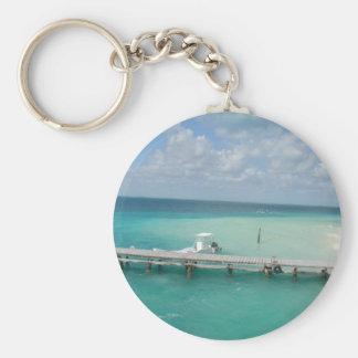 cancun... basic round button key ring
