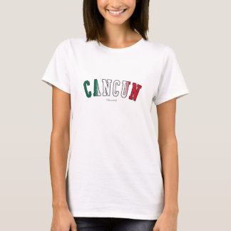 Cancun in Mexico national flag colors T-Shirt