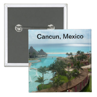 Cancun Mexico 15 Cm Square Badge