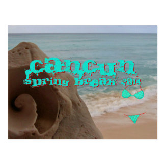 Cancun Mexico 2014 Spring Break Beach Waves Post Cards