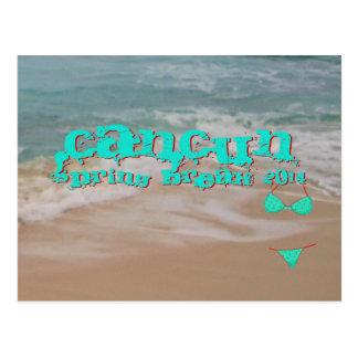 Cancun Mexico 2014 Spring Break Ocean Blue Post Cards