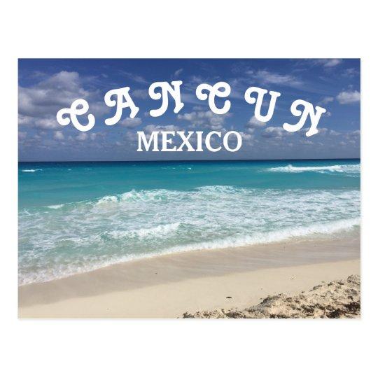 Cancun Mexico Clear Water Caribbean Beach Postcard