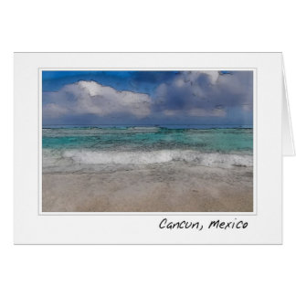 Cancun Mexico Ocean Beach Card