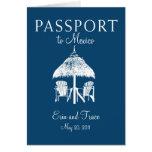 Cancun Mexico Passport Wedding Invitation