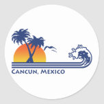 Cancun Mexico Round Sticker
