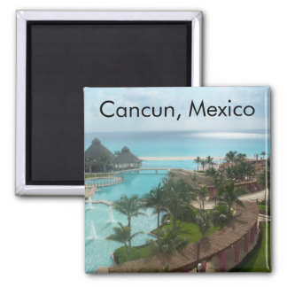 Cancun Mexico Square Magnet