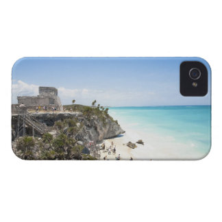 Cancun, Quintana Roo, Mexico - Ruins on a hill iPhone 4 Case-Mate Cases