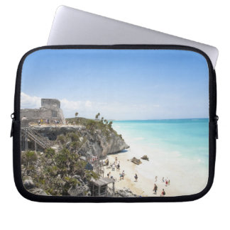 Cancun, Quintana Roo, Mexico - Ruins on a hill Laptop Sleeve